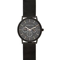Red Herring - Men's black mock multi-dial watch