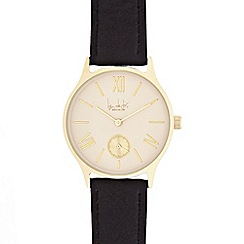 Principles - Ladies black and gold toned watch