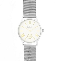 Principles - Ladies silver mesh strap watch