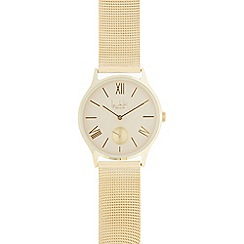 Principles - Ladies gold plated mesh analogue watch