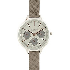Principles - Ladies grey checked analogue watch