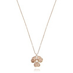 Pilgrim - Rose gold crystal flower necklace