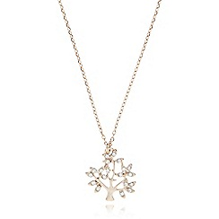 Pilgrim - Rose gold crystal tree necklace