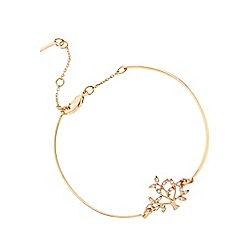 Pilgrim - Rose gold crystal tree bracelet