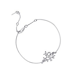 Pilgrim - Silver plated crystal tree bracelet