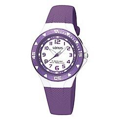 Lorus - Kids' purple textured rubber strap watch r2337dx9
