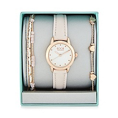 Floozie by Frost French - Ladies gold plated bracelet and analogue watch set