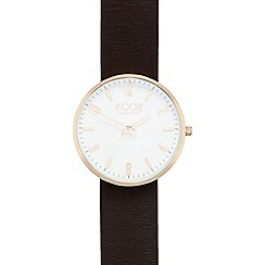Floozie by Frost French - Ladies dark brown leather analogue watch