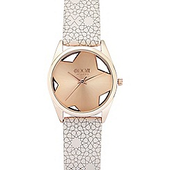 Floozie by Frost French - Ladies pale pink star print analogue watch
