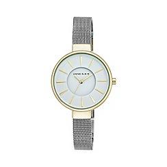 Anne Klein - Womens silver tone mesh watch with a white dial ak/n2443wttt