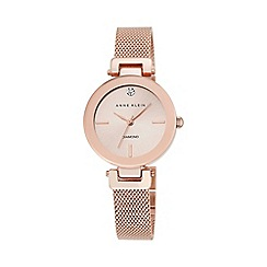 Anne Klein - Womens watch with a rose gold case and diamante features ak/n2472rgrg