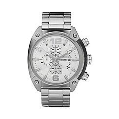 Diesel - Men's 'Overflow' silver dial & bracelet watch dz4203