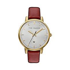 Ted Baker - Ladies burgundy leather strap watch te10030739