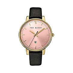 Ted Baker - Ladies black leather strap watch te10030740