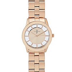 J by Jasper Conran - Ladies' rose gold plated analogue watch