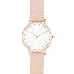 J by Jasper Conran - Ladies' light pink analogue watch