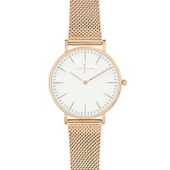 J by Jasper Conran - Ladies' rose gold plated mesh analogue watch