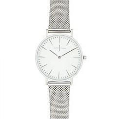 J by Jasper Conran - Ladies' silver mesh analogue watch