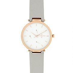 J by Jasper Conran - Ladies' light grey analogue watch