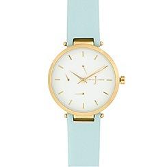 J by Jasper Conran - Ladies' light blue analogue watch