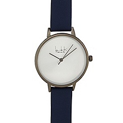 Principles - Navy leather strap watch