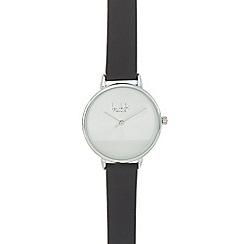 Principles - Black leather strap watch