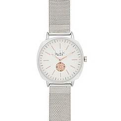 Principles - Ladies' silver mesh analogue watch