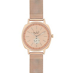 Principles - Ladies' rose gold mesh analogue watch