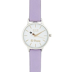 Floozie by Frost French - Ladies' purple 'Be Happy'  analogue watch