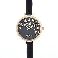 Floozie by Frost French - Ladies' black bird analogue watch