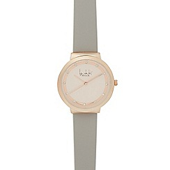 Principles - Ladies grey diamante watch