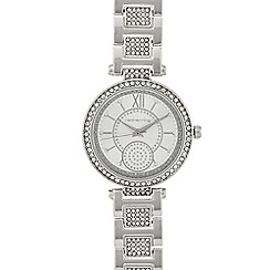 Red Herring - Ladies silver crystal detail watch