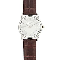 Infinite - Men's brown analogue watch