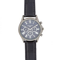 Infinite - Men's black roman numeral analogue watch