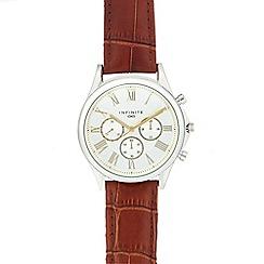 Infinite - Men's brown roman numeral analogue watch
