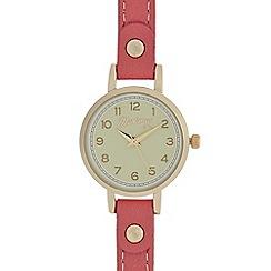 Mantaray - Ladies red round analogue watch