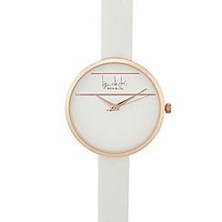 Principles - White round face watch