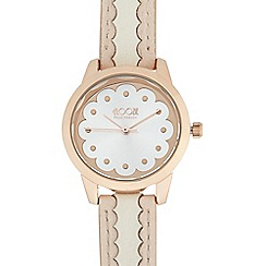 Floozie by Frost French - Ladies silver and gold plated scalloped detail watch