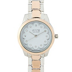 Floozie by Frost French - Ladies light cream scalloped watch