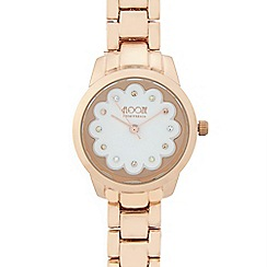Floozie by Frost French - Ladies gold plated scalloped detail watch
