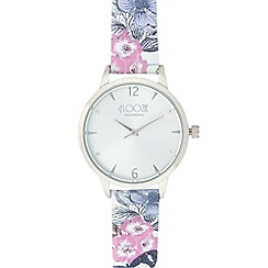 Floozie by Frost French - Ladies' multi-coloured floral print analogue watch
