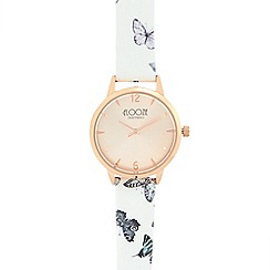 Floozie by Frost French - Ladies' white butterfly analogue watch