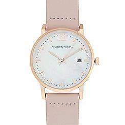 RJR.John Rocha - Ladies' light pink mother of pearl dial analogue watch