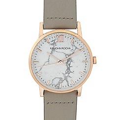 RJR.John Rocha - Ladies' light grey marbel analogue watch