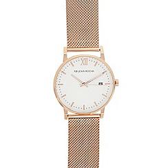 RJR.John Rocha - Ladies' rose gold mesh analogue watch