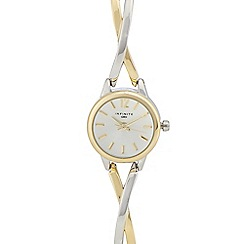 Infinite - Ladies' silver cross over analogue watch