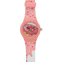Floozie by Frost French - Ladies pink doughnut print analogue watch