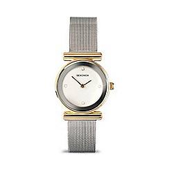 Sekonda - Ladies white stone set silver mesh strap watch 4887.28