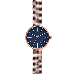 Skagen - Ladies rose quartz bracelet watch