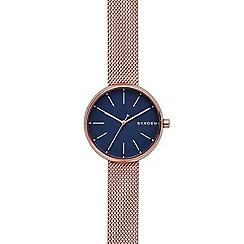 Skagen - Ladies rose quartz bracelet watch